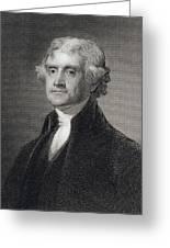 Thomas Jefferson Greeting Card by Gilbert Stuart