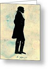 Thomas Jefferson Silhouette 1800 Greeting Card by Padre Art
