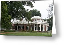 Thomas Jeffersons Monticello Greeting Card