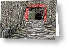 Thomas Mill Covered Bridge Greeting Card