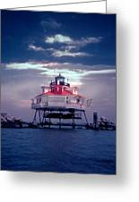 Thomas Pt.  Shoal Lighthouse Greeting Card