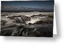 Thor's Well Or Cooks Chasm Greeting Card
