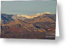 Those Beautiful Snow Cap Mountains Of Nv Greeting Card