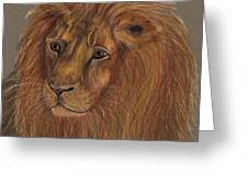 Thoughtful Lion 2 Greeting Card
