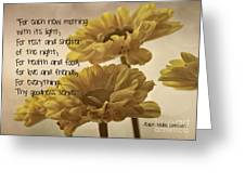 Thoughts Of Gratitude Greeting Card