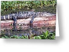 Thr Gator Greeting Card