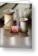 Thread And Mending Greeting Card