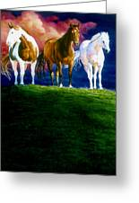 Three Amigos Greeting Card by Hanne Lore Koehler