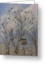 Three And Twenty Blackbirds Greeting Card