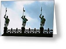 Three Armored Guards Greeting Card
