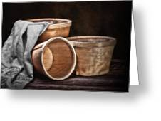 Three Basket Stil Life Greeting Card