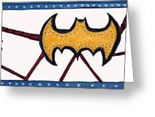 Three Bat Signals Greeting Card