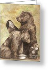 Three Bears Greeting Card by Meagan  Visser