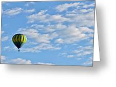 Three Beautiful Balloons In Cortez Greeting Card