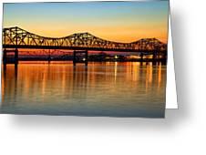 Three Bridge Sunset Greeting Card