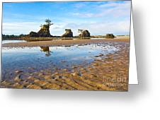 Three Brothers Rock Formation Near The Oregon Coast Greeting Card