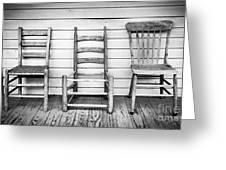 Three Chair Porch Greeting Card