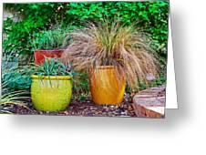 Three Colorful Pots Greeting Card