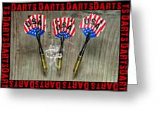 Three Darts Greeting Card