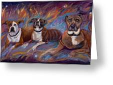 If Dogs Go To Heaven Greeting Card