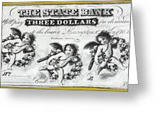 Three Dollar Bill, 1856 Greeting Card