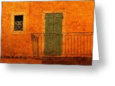 Three Doors In Provence Greeting Card