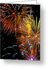 Three Explosions Greeting Card