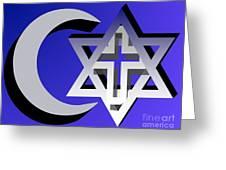 Three Faiths Greeting Card