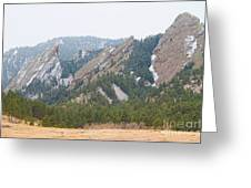 Three Flatirons Boulder Colorado Greeting Card