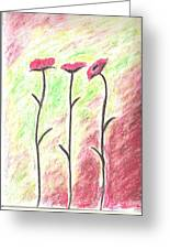 Three Flowers Greeting Card by Scott Ware