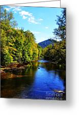 Three Forks Williams River Early Fall Greeting Card by Thomas R Fletcher