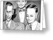 Three Guys Greeting Card