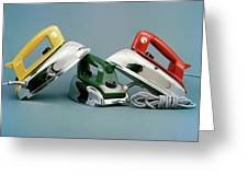 Three Irons By Casco Products Greeting Card