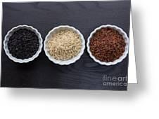 Three Kinds Of Rice Greeting Card