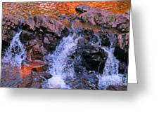 Three Little Forks In The Waterfall Greeting Card