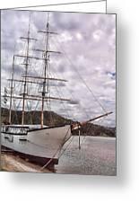Three Mast Sail Boat Greeting Card