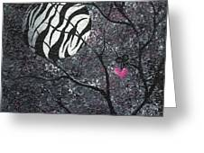 Three Moons Series - Zebra Moon Greeting Card by Oddball Art Co by Lizzy Love