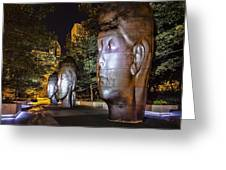 Three New Faces In Chicago's Millennium  Park Greeting Card