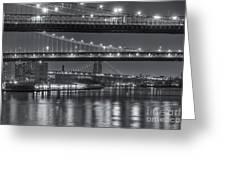 Three New York Bridges II Greeting Card