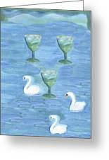 Three Of Cups Greeting Card