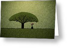 Three Of Green Greeting Card