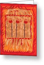 Three Of Wands Greeting Card