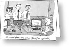 Three Office Workers Greeting Card