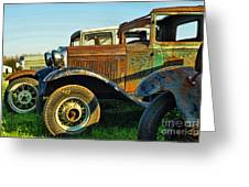 Three Old Fords Greeting Card