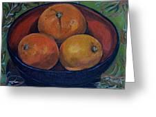 Three Oranges Greeting Card