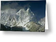 1m4503-three Peaks Of Mt. Index Greeting Card