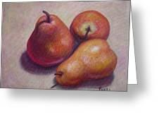 Three Pears #2 Greeting Card