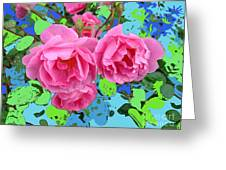 Three Pink Roses By M.l.d.moerings 2010 Greeting Card