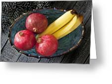 Three Pomegranates  Greeting Card