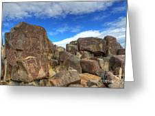 Three Rivers Petroglyphs 2 Greeting Card